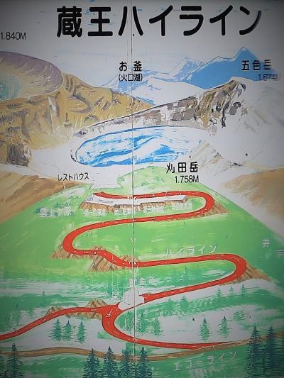 宮城蔵王-2 蔵王ハイライン 刈田岳登山の有料道路 ☆エコーラインに接続して