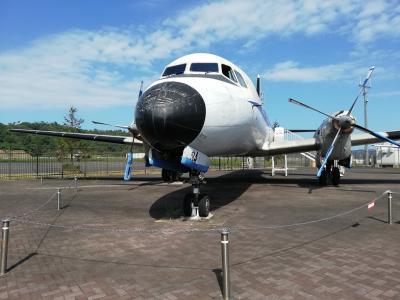 コウノトリ但馬空港 旅客ターミナルビルとANK YS11型
