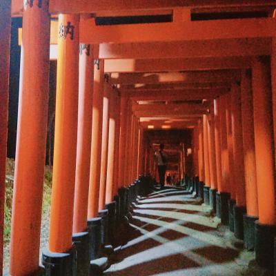 ***京の休日***1日目JALで京都へ・お泊まりは京都ブライトンホテルルームen・夜の伏見稲荷大社