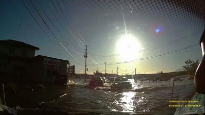 台風19号から避難も兼ねてラグビーワールドカップ観戦に、釜石へその2帰りの道中周りが大変なことに