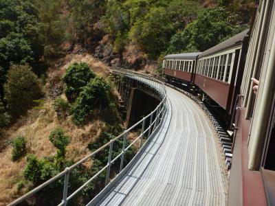 2019年秋 ケアンズ旅行(その2 キュランダ鉄道に乗って、キュランダ村へ)