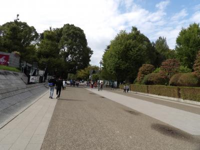 人出がまばらな上野公園