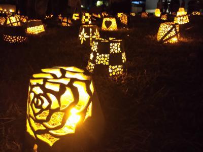 10月10日のイベント。陶と灯の日を毎年楽しみにして訪れています