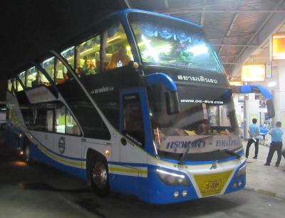 バンコク・サイタイマイからハジャイへ夜行バスの旅(2019年2月)