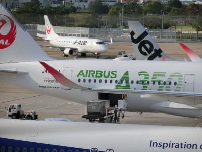 偶然福岡空港に行ったらJALのA350-900訓練機に遭遇した編