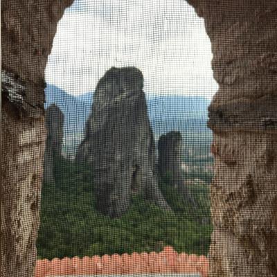2018年 お盆休みの ギリシャ《21》 メテオラ 修道院 を巡る ルサヌー修道院、ニコラエパドヴァ修道院、グレゴレテオログ修道院、へ