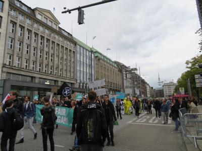 気候変動のデモに遭遇したハンブルグ ドイツ7日目