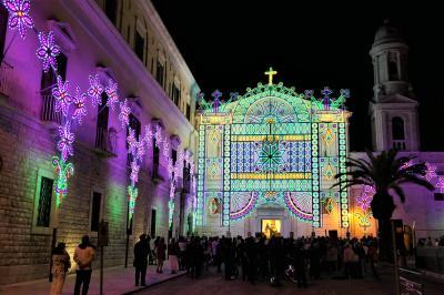 魅惑のシチリア×プーリア♪ Vol.770 ☆トラーニ:煌めくルミナリエ祭り♪