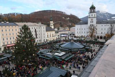 2019冬 母娘でドイツ・フランス クリスマスマーケット巡り ①ザルツブルクへ日帰りで