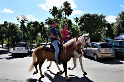 魅惑のシチリア×プーリア♪ Vol.772 ☆Bisceglieビシェーリエ:馬が歩く美しい広場♪