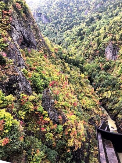 秋の北海道 3泊4日 3日目 札幌 豊平峡の紅葉 定山渓温泉