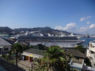 またまた ダイヤモンドプリンセス  (釜山・長崎) 5、真夏のような長崎&夜はステーキハウス
