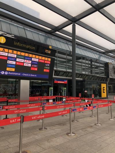 TaxRefund!!免税手続きTAXFREE ヒースロー空港ターミナル3ランドサイド