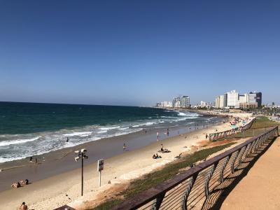 再訪ヨルダン、そしてイスラエルへ♪【4日目】 JJ鉄道で、テルアビブ/ヤッフォへ。地中海だよ~!