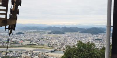 岐阜城から武田五一設計の名和昆虫博物館へ