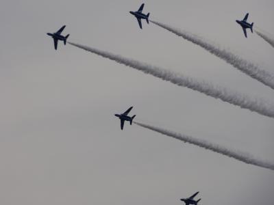 ブルーインパルスの曲芸飛行に満足したエアフェスタ浜松基地でした。