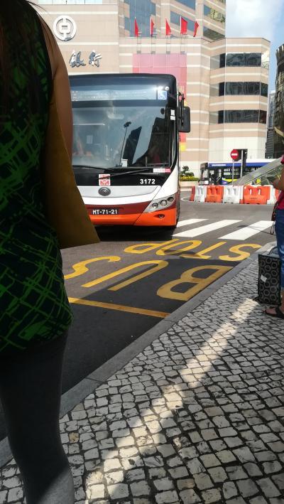地歩に無いマカオ旅行001:マカオ市内から、バスを乗り継いで、香港国際空港に行く-01