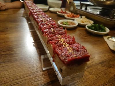 美味しいぞ韓国!食べて買って食べての旅201910Part7(2日目:明洞で食べまくりの夕食)