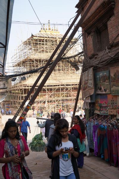 NEPAL Himaraya Trekking の終わりにダルバール広場を散策