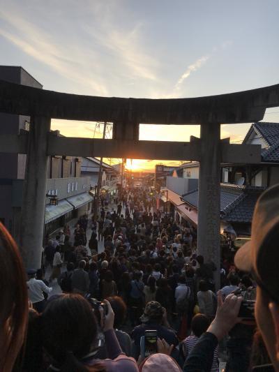 福岡・大分の旅2 太宰府天満宮と嵐のCM「光の道」の宮地嶽神社