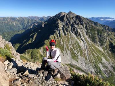 北穂高岳を踏んで、槍から穂高連峰を繋ぐ