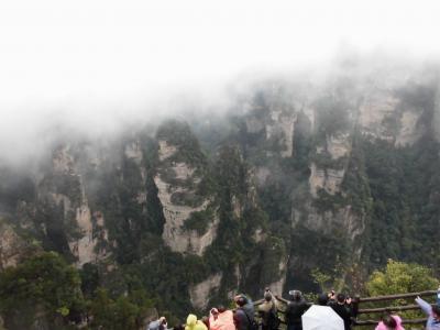 小雨・霧で寒かった 張家界・鳳凰  (武陵源・天門山・鳳凰古城)
