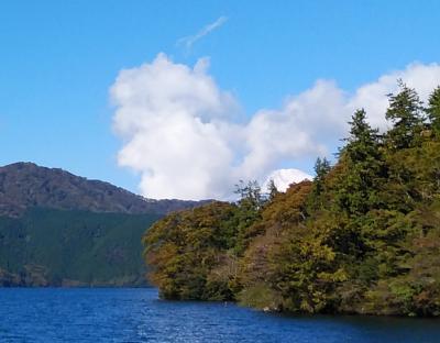 芦ノ湖周辺から富士山眺望