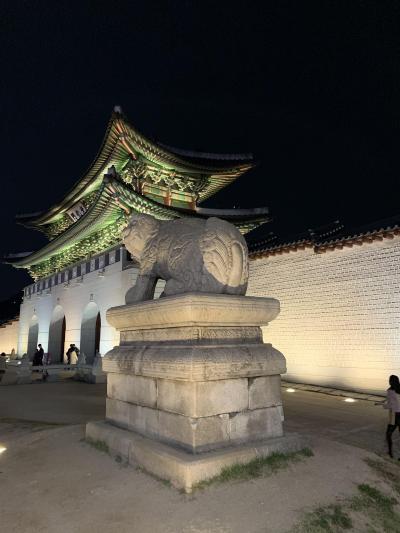34ヶ月連続、34回目のソウル訪問。② 景福宮夜間特別観覧。