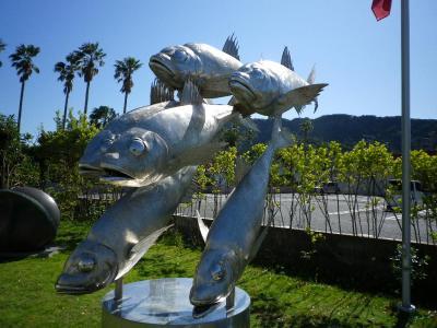 富津の金谷で絵を見てアジフライ