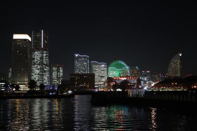 横浜みなとみらいの夜景・・・