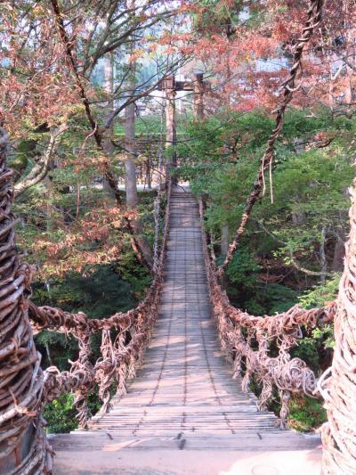 2019徳山湖から冠峠の紅葉から福井県池田のかずら橋の一人旅