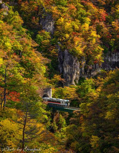 東北有数の紅葉の名所、鳴子峡へ撮影旅