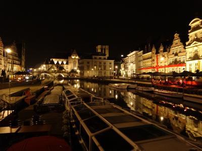 秋のベルギー ②ゲントの夜