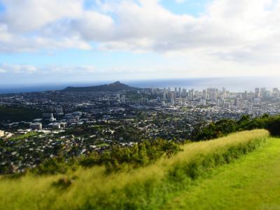 義両親と年末年始ハワイ 2日目 貸切チャーター観光 カイルア タンタラスなど