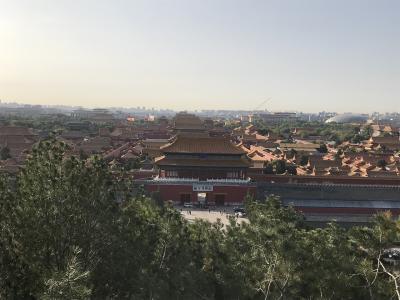 はじめての北京<2> 往路トランジット 故宮を望む