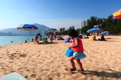 香港★まだまだ暑いので屯門のビーチへ! ~海港酒家・黄金泳灘・5越越南餐廳・敏華冰廳~