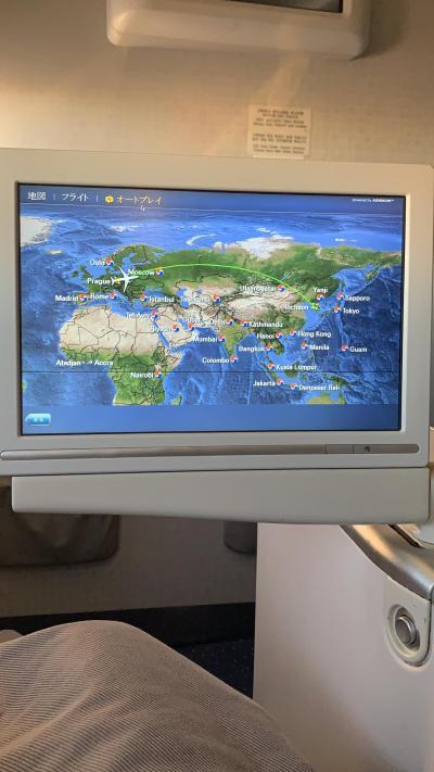 チェコ航空ビジネスクラスでソウルへ。