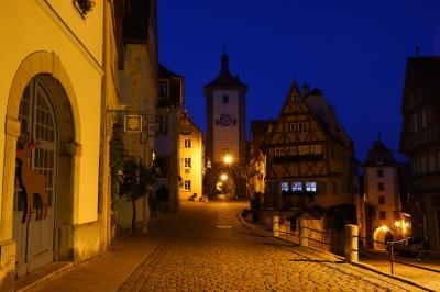 スイス3大明峰とロマンティック街道の旅 9.懐かしのローテンブルク、夜と朝の街歩き