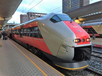 北欧等5カ国旅行 4日目朝(列車で移動)