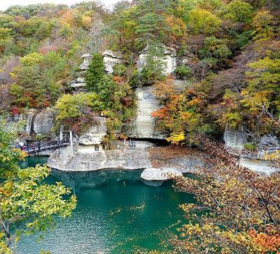 団塊夫婦の2019年日本紅葉巡りドライブー(2)南会津へ・塔のへつり~大内宿~東山温泉