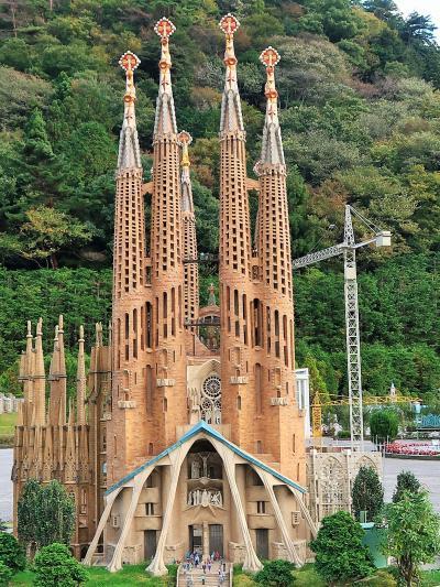 東武ワールドスクウェア-9 スペイン サグラダ・ファミリア ☆ヨーロッパの有名教会等