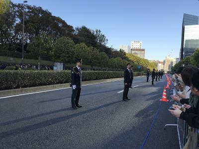 陛下っ、雅子さま、おめでとうございます パレード、赤坂御所前で、反省会込の午後ツアー