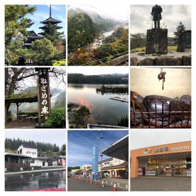 2日目は、大阪から奈良を通って岐阜へ、途中法隆寺を見学し岐阜恵那峡へ、3日目は雨が強くて寝覚の床を観たあと早々と帰京