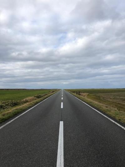 日本一、一直線の道