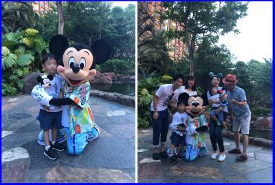 マカヒキの「キャラクターブレックファースト」孫、4歳、2歳とジジババ、息子夫婦のハワイ旅。4日目-1