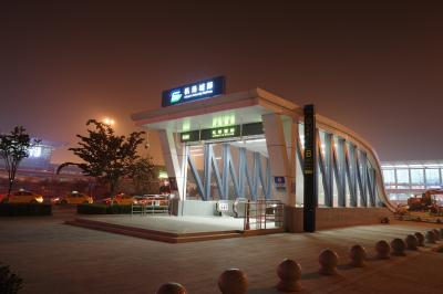 中国 西安 2019年11月 空港から市内への地下鉄情報