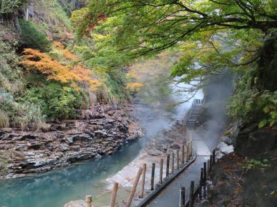 晴れおじさん「秋だ、紅葉だ、温泉だ」 (小安峡温泉)