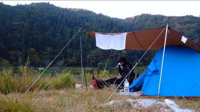 矢作川島崎公園でキャンプ