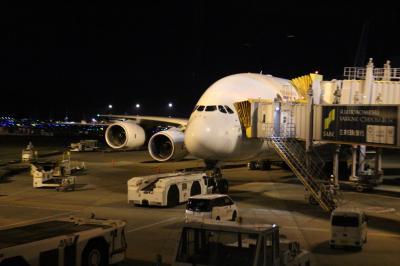 バンコクの休日、往路フライト編。NRT→BKK、TG677便、A380普通席。