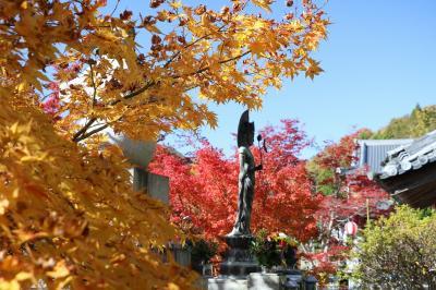 宍粟市の原不動滝と佐用町の清林寺に紅葉を楽しみに出掛けてきました